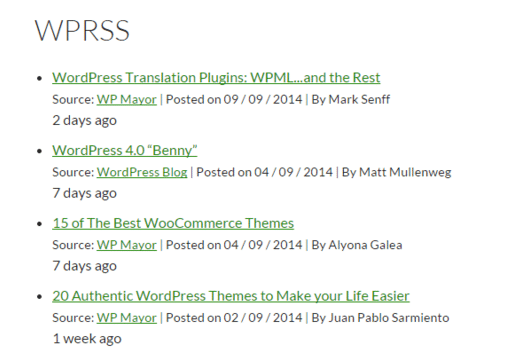 RSS Feed WordPress