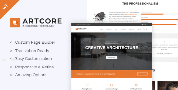 7 wordpress themes for architects for Architecture wordpress
