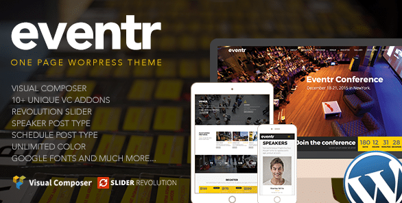 7 WordPress Themes for Events